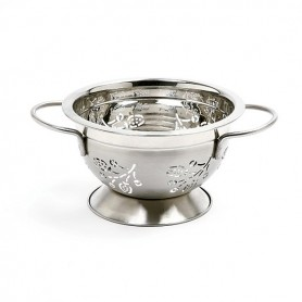 "6.5"" Stainless Steel 1.5 Quart Berry Colander"