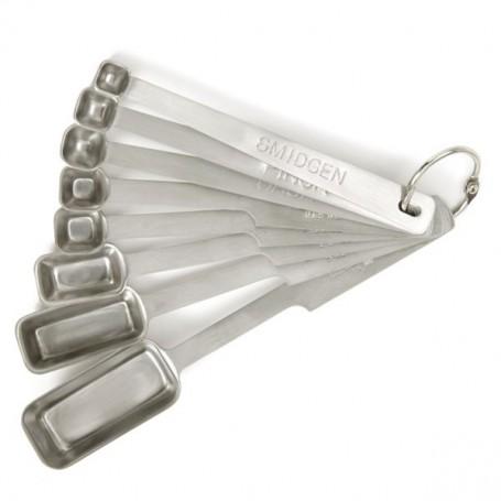 Set of 8 Stainless Steel Measuring Spoons