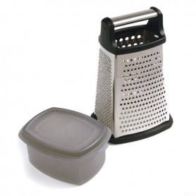4 Sided Cheese Grater with Catcher
