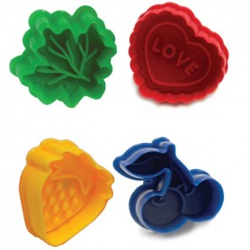 Set of 4 Pie Top Cookie Cutters
