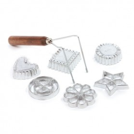 Set of 6 Swedish Rosette Cookie & Timbale Molds