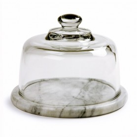 Marble Cheese Board With Glass Dome