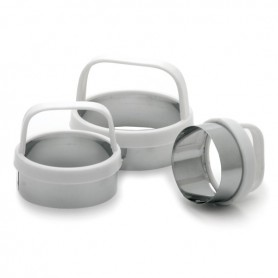 Set of 3 Round Biscuit/Cookie Cutters