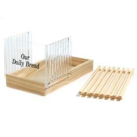 Acrylic & Wood Bread Slicer with Crumb Catcher