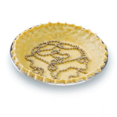 6' Stainless Steel Pie Crust Chain Weight