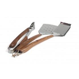 3-Piece Rosewood  BBQ Tool Set