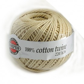 Unbleached Cotton Twine - 220 feet