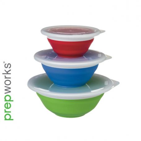 PrepWorks Collapsible Storage Bowl Set