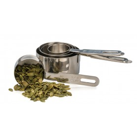 Set of 5 Stainless Steel Measuring Cups