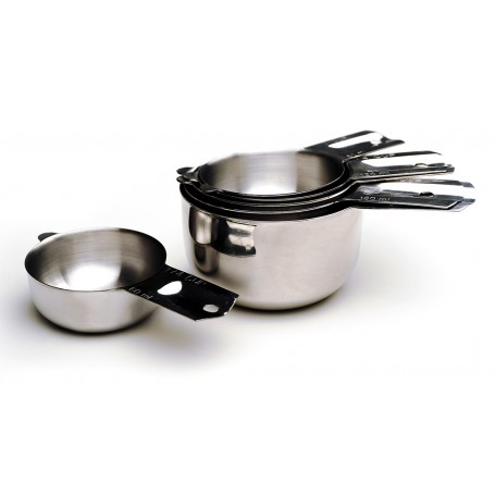 Set of 6 Stainless Steel Measuring Cups