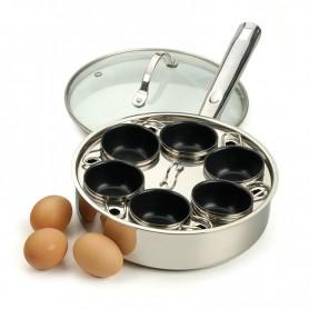 Endurance Stainless Steel 6 Egg Poacher Set
