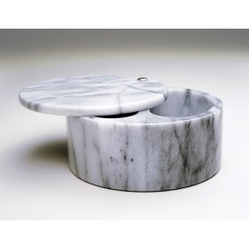 Swivel Top Salt Box - White Marble