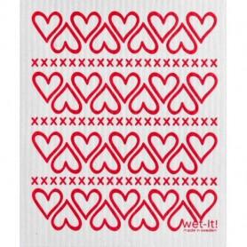 Wet-it ! Hearts Swedish Cloth