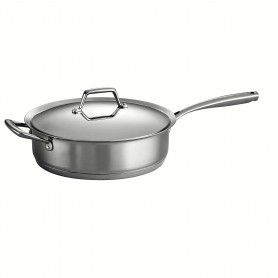 Tramontina - 5 Quart Prima Stainless Steel Covered Deep Saute Pan