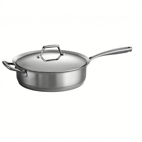 Tramontina - 5 Quart Prima Stainless Steel Covered Deep Saute Pan
