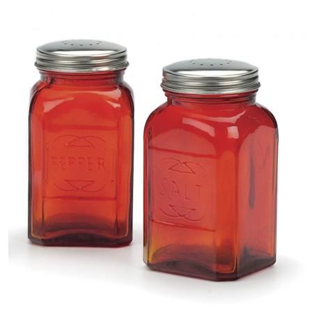 Retro Glass Salt & Pepper Shakers