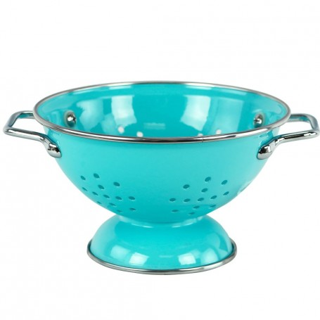5 Quart Enamel on Steel Colander