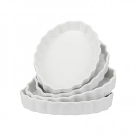 Set of 4 Oval Quiche Dishes