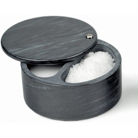 Swivel Top Salt Box – Black Marble