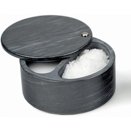 Swivel Top Salt Box – Black Marble
