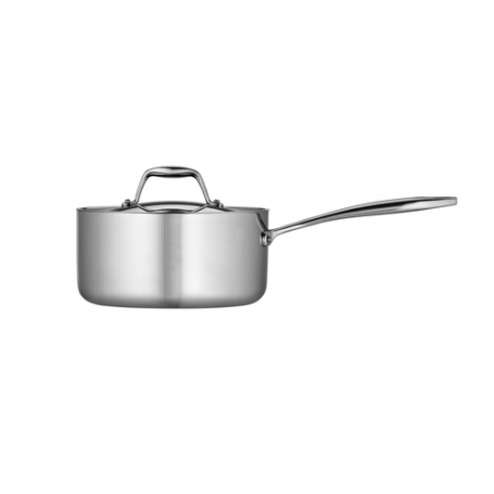Tramontina - Tri-Ply Clad Stainless Steel Covered Sauce Pan
