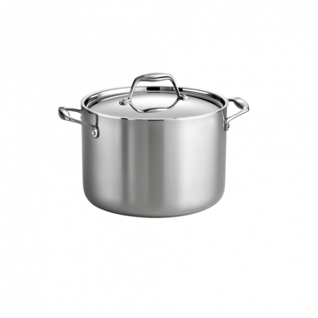 Tramontina - 8 Quart Tri-Ply Clad Stainless Steel Covered Stock Pot