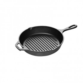 Lodge - 10.25 Inch Cast Iron Grill Pan