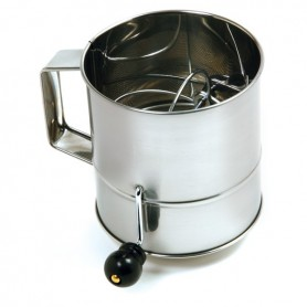 3 Cup Stainless Steel Hand Crank Sifter