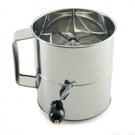 8 Cup Stainless Steel Hand Crank Sifter